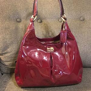 COACH Crimson Patent Leather Maggie 21238